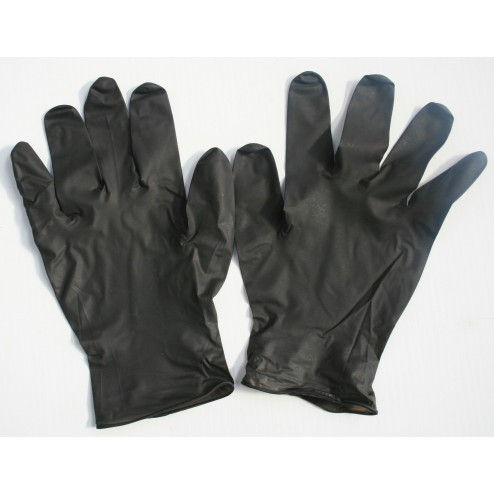 Black lightning gloves pair